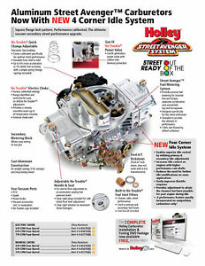 Holley 0 83670 Carburetor 670 Cfm Alum Street Avenger E c