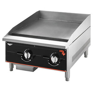 Vollrath 924ggt 24 Gas Countertop Cayenne Heavy duty Griddle 60 000 Btu