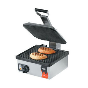 Vollrath 40790 Electric Single Cayenne Panini Sandwich Press