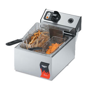 Vollrath 40706 Countertop Electric Full Pot Cayenne Fryer 2 5 Kw