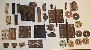 Large Lot Of Vintage Antique Door And Window Hardware Several Pieces
