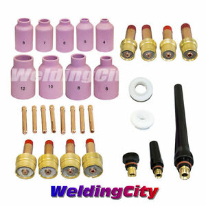 Tig Welding Gas Lens Kit 040 1 16 3 32 1 8 Torch 17 18 26 T26 Us Seller Fast