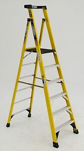 Werner Pd7306 Type 1aa 375lb Rated Fiberglass Podium Ladder