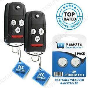 2 Replacement For 2008 2012 Honda Accord Coupe Remote Car Keyless Flip Key Fob