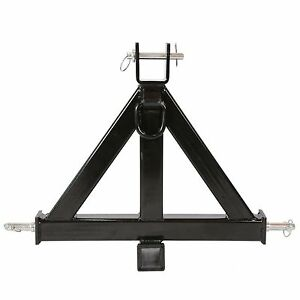 Black 3 Point 2 Receiver Trailer Hitch Category 1tractor Tow Drawbar Pull Us