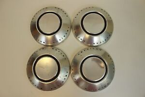 American Motors Set Of 4 Hubcaps Center Caps Dog Dish Wheel Covers Aluminum