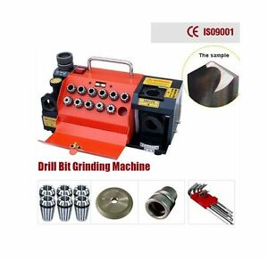 Portable Precise Drill Bit Grinder Sharpening Machine Grinding Wheel 11 Collet