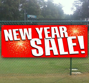 New Year Sale Advertising Vinyl Banner Flag Sign Usa Many Sizes Available Usa