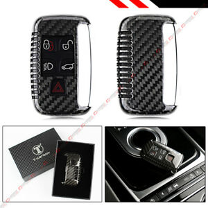 Luxury Real Carbon Fiber Snap On Hard Case For Land Range Rover Key Fob Remote