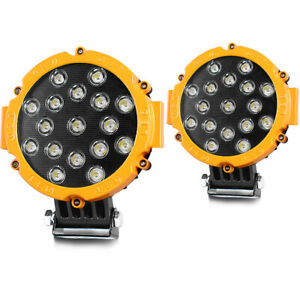 7inch 5100lm Led Work Lights Round Offroad Pickup 4x4wd Snowmobile Driving Pods