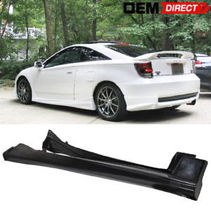 For 00 05 Toyota Celica Vip Style Side Skirts Unpainted Black Pu Poly Urethane