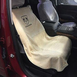 1994 2019 Dodge Ram 1500 Tan Seat Cover Seat Armour Towel Black Rams Head New