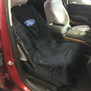 Brand New Seat Armour Black Ford Front Bucket Seat Cover Towel F 150 Mustang