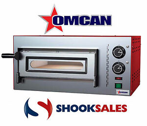 Omcan Pe it 0010 40634 Commercial Electric Deck Countertop Pizza Stone Oven