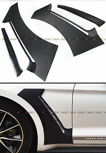 For 15 2020 Ford Mustang Gt Style Front Fender Side Panel Door Scoops Vent Flare