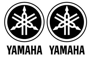 Two 2 Yamaha 1 Motorcycle Gas Tank Left Right Stickers Vinyl Decals