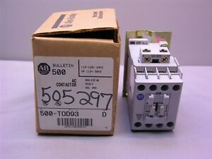 Allen Bradley 500 tod93 115v 120v 60hz Ac Contactor New In Box