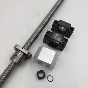 Sfu2010 Ballscrew L 500mm Ballnut Bracket Seat bk bf15 Support End Machining
