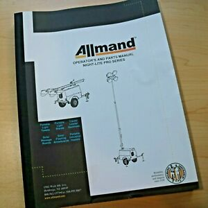 Allmand Night Lite Pro Series Light Tower Owner Operation Operator Parts Manual