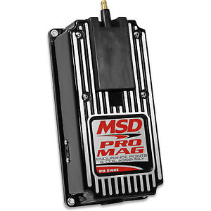 Msd Pro Mag 12 20 Amp Electronic Points Coil Assembly Box Black 81063