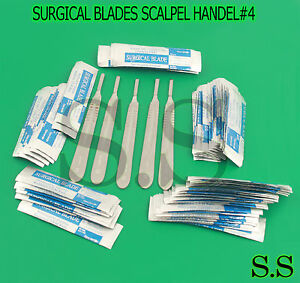 500 Surgical Sterile Scalpel Handle Blades 22 5 Surgical Scalpel Handel 4 Free