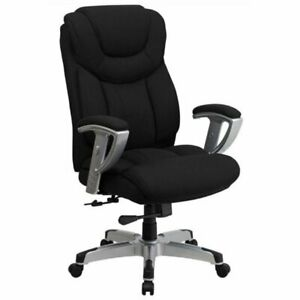 Bowery Hill Tall Office Chair In Black