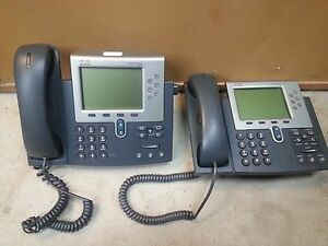 Lot Of 2 Cisco Ip Phone 7961 Series Business Phones