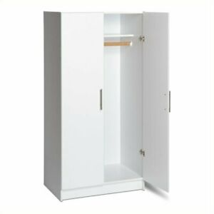 Bowery Hill 32 Wardrobe Armoire In White