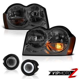 05 06 07 Jeep Grand Cherokee Wk Headlamps Chrome Fog Lights Oe Style Replacement