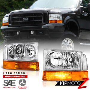 1999 2004 Ford F250 F350 F450 Superduty factory Style Headlights Bumper Lamps