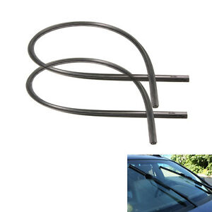 2x 26 Auto Car Frameless Windshield Wiper Blade Rubber Refill Strips Universal
