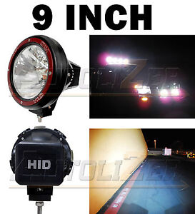 2x Universal 9 Inch Built In Xenon Hid 4x4 Off Road Rally Driving Fog Light Lamp
