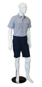 Male Fiberglass Mannequin W magnetic Arms Fashion Clothing Display White New