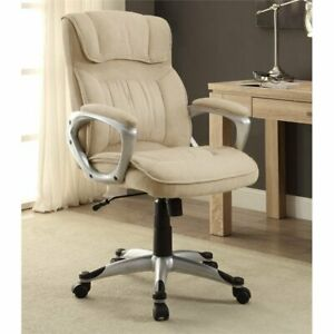 Serta At Home Executive Office Chair In Fawn Tan Linen