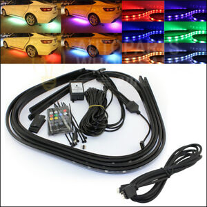 Rgb Led Strip Tube Car Underbody Underglow Neon Light System With Extension