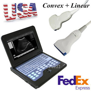 Hot Usa Portable Cms600p2 Laptop Ultrasound Scanner Machine Convex Linear Probes