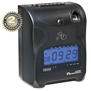 Acroprint Biometric Fingerprint Time Clock Black red Ink 6 X 5 X 9