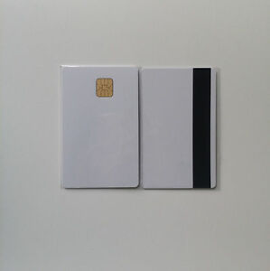 10 Pcs Blank Sle4442 Chip Card With 2 Track 8 4mm Hi co Magnetic Stripe