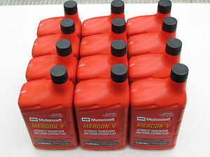 Motorcraft Mercon V Automatic Transmission Fluid Xt 5 Qmc 12 Quarts