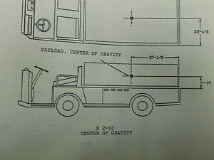 Taylor Dunn Electric Cart Service Parts Manual Repair Book e13 2030