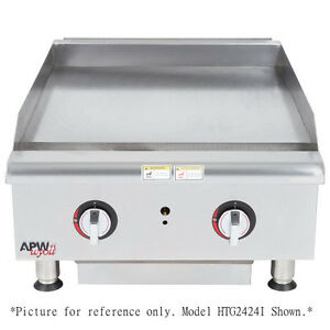 Apw Wyott Htg 2448i 48 Countertop Gas Cookline Griddle Thermostatic Controls