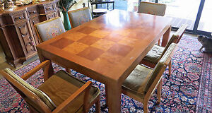 Table And 6 Chairs Mid Century Dinning Room Set