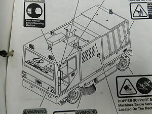 Tennant 830 Street Sweeper Service Shop Operation Repair Parts Manual e12 2055
