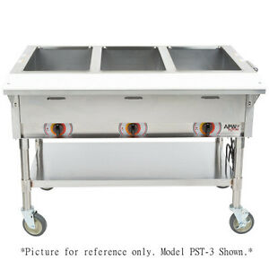Apw Wyott Pst 3s Electric Portable Champion Hot Well Steam Table