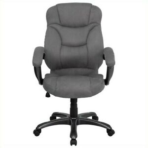 Flash Furniture High Back Gray Microfiber Upholstered Office Chair