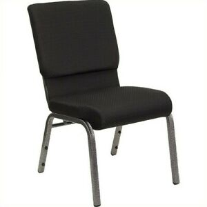 Flash Furniture Hercules Series Church Stacking Guest Chair In Black