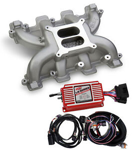 Ls Cathedral Port Carb Conversion Holley 300 130 Dual Plane Intake Msd 6014 Box