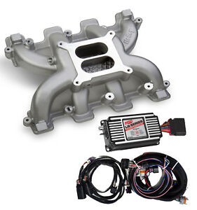Ls Cathedral Port Carb Conversion Holley 300 130 Dual Plane Intake Msd 60143 Box
