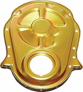 Milodon 65605 Big Block Chevy Steel Timing Covers Gold Iridited Steel