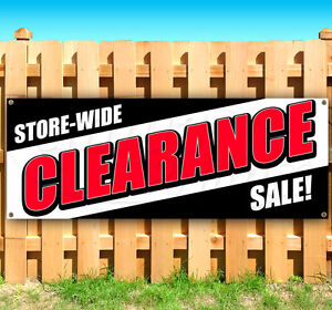 Store Wide Clearance Sale Advertising Vinyl Banner Flag Sign Many Sizes Usa